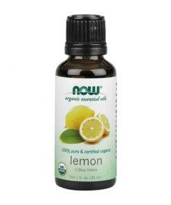 Now Foods, 100% Pure Lemon Essential Oil, Certified Organic, 30ml