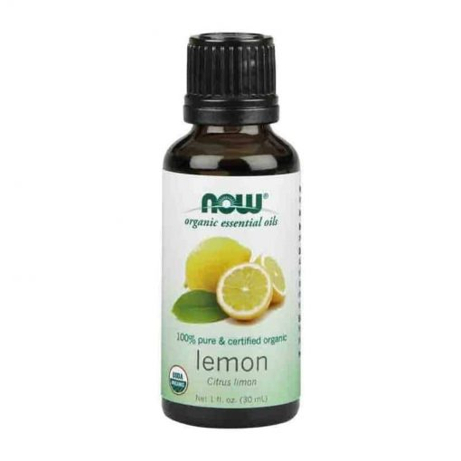 Now Foods, 100% Pure Lemon Essential Oil, Certified Organic, 30ml