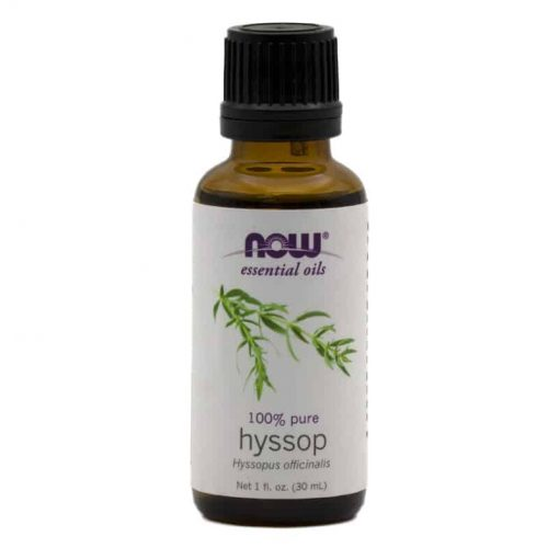 NOW, 100% Pure Hyssop Essential Oil, 30ml