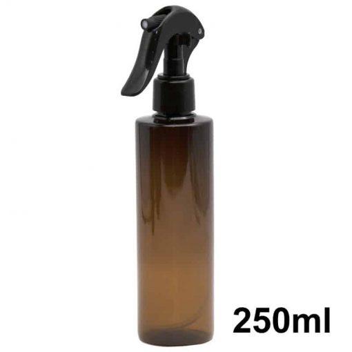 Amber Plastic Spray Bottle 250ml